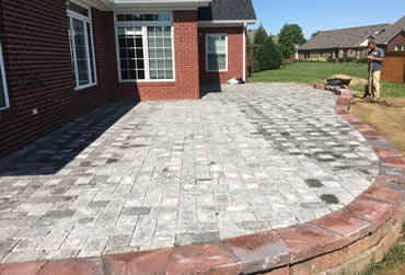 Block and paver patio installation